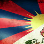 stock-footage-tibet-flag-waving-grunge-look